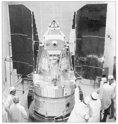 The first Landsat satellite - ERTS-1. It launched on July 23, 1972.