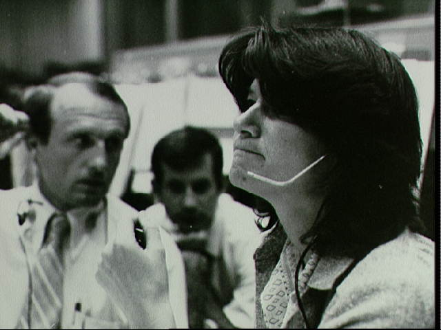 Sally Ride in Mission Control During STS-2 Simulation