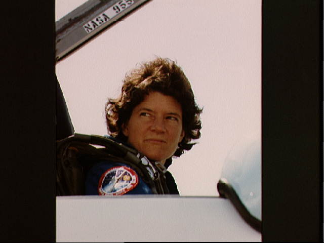 Sally Ride in a T-38 Aircraft