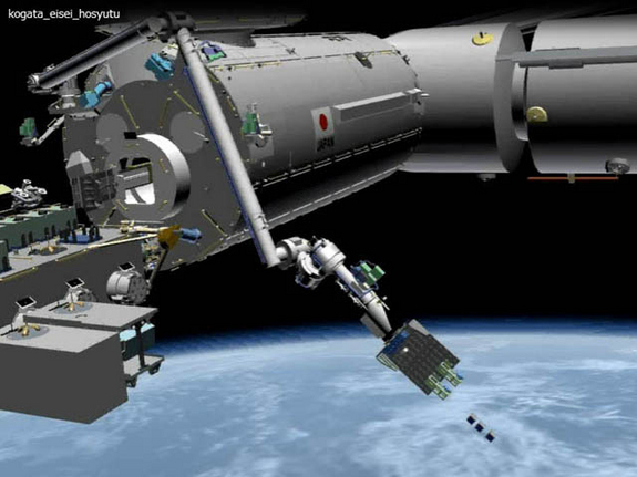 A Small Satellite Orbital Deployer is to be used from Japan's Kibo module to deploy a set of cubesats.