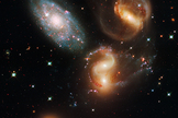 Stephan's Quintet is a cluster of five galaxies.