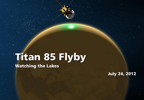 Cassini Spacecraft Buzzes Saturn Moon Titan to See Methane Lake