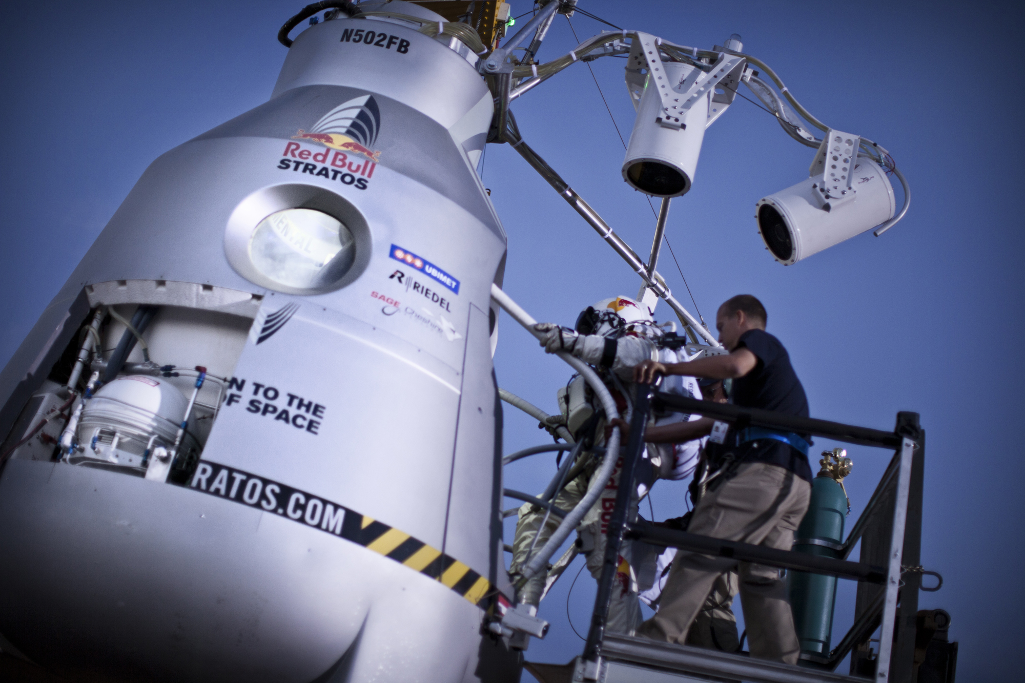 Climb Aboard - Red Bull Stratos, 7/25/12 Test Jump