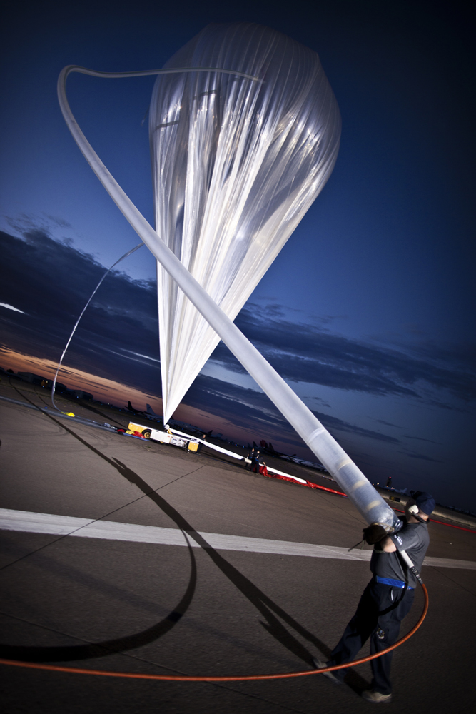 Red Bull Stratos Balloon Inflation