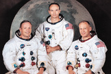 "Apollo 11 crew: Neil Armstrong, Michael Collins and Edwin ""Buzz"" Aldrin."