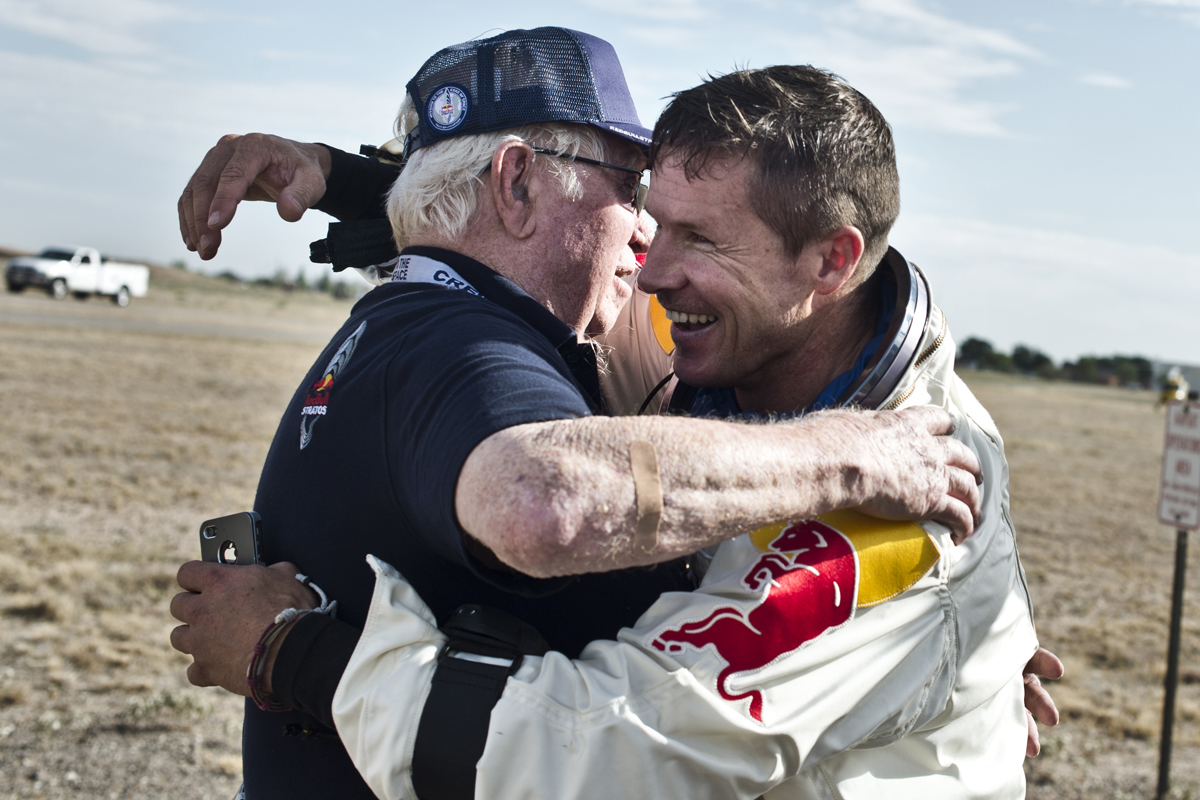Baumgartner and Kittinger Post-Jump
