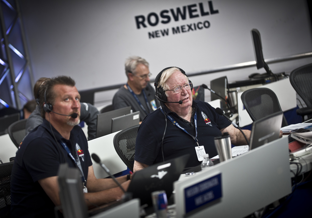 Joe Kittinger in Red Bull Stratos Mission Control
