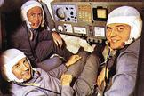 The crew of the Soyuz 11, shown here during practice, was killed during their return to Earth from a 22-day visit to the Salyut 1.