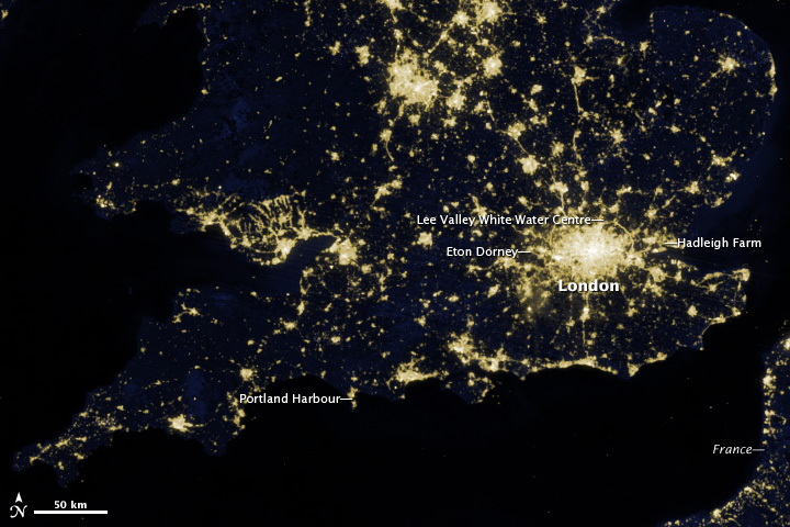 Olympic City: London's Lights Seen from Space