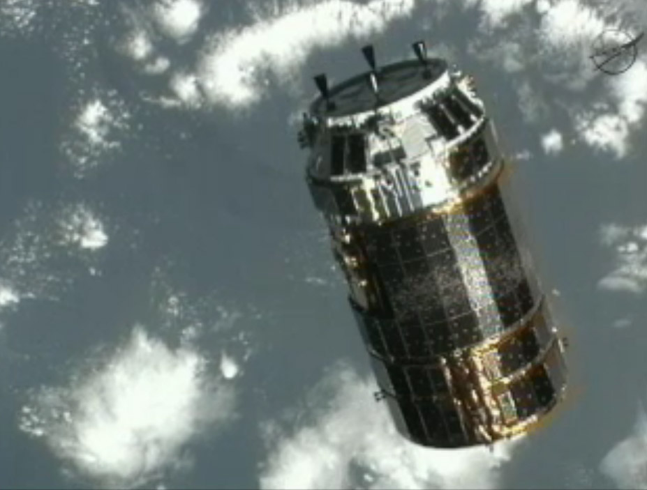 Japanese Unmanned Spacecraft Arrives at Space Station
