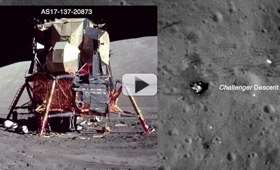 Flashback: Apollo 17 Landing Site Explored By Orbiter   Video