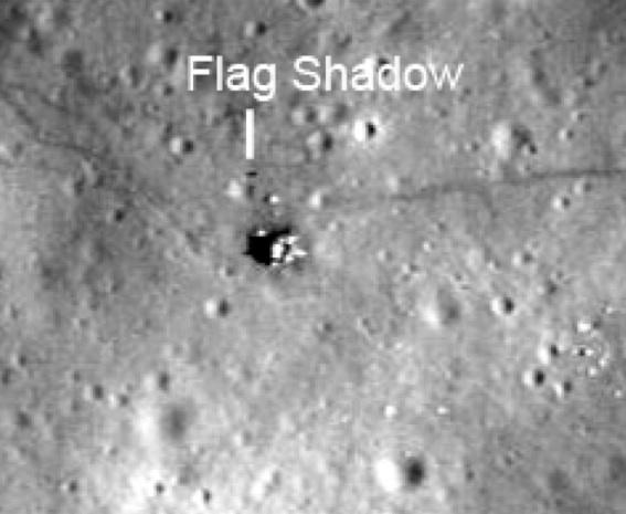 Apollo 12 Deployed Flag and Shadow