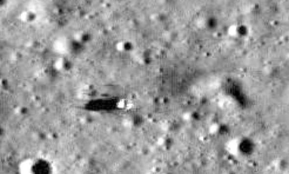Apollo 14 Deployed Flag and Shadow