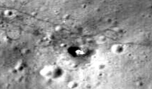 Apollo 15 Deployed Flag and Shadow