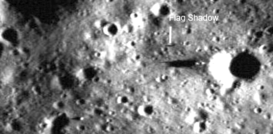 Apollo 16 Deployed Flag and Shadow