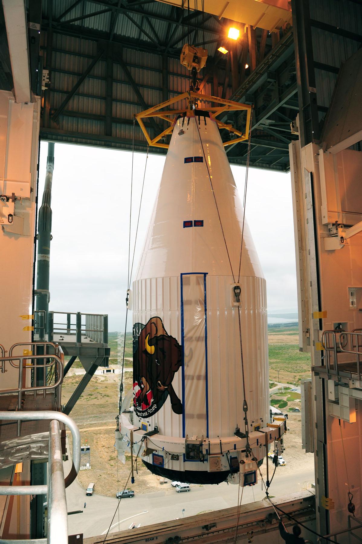 NROL-36 Spy Satellite Mated to Rocket