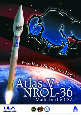 The mission posted for the U.S. National Reconnaissance Office NROL-36 mission on Aug. 2, 2012.