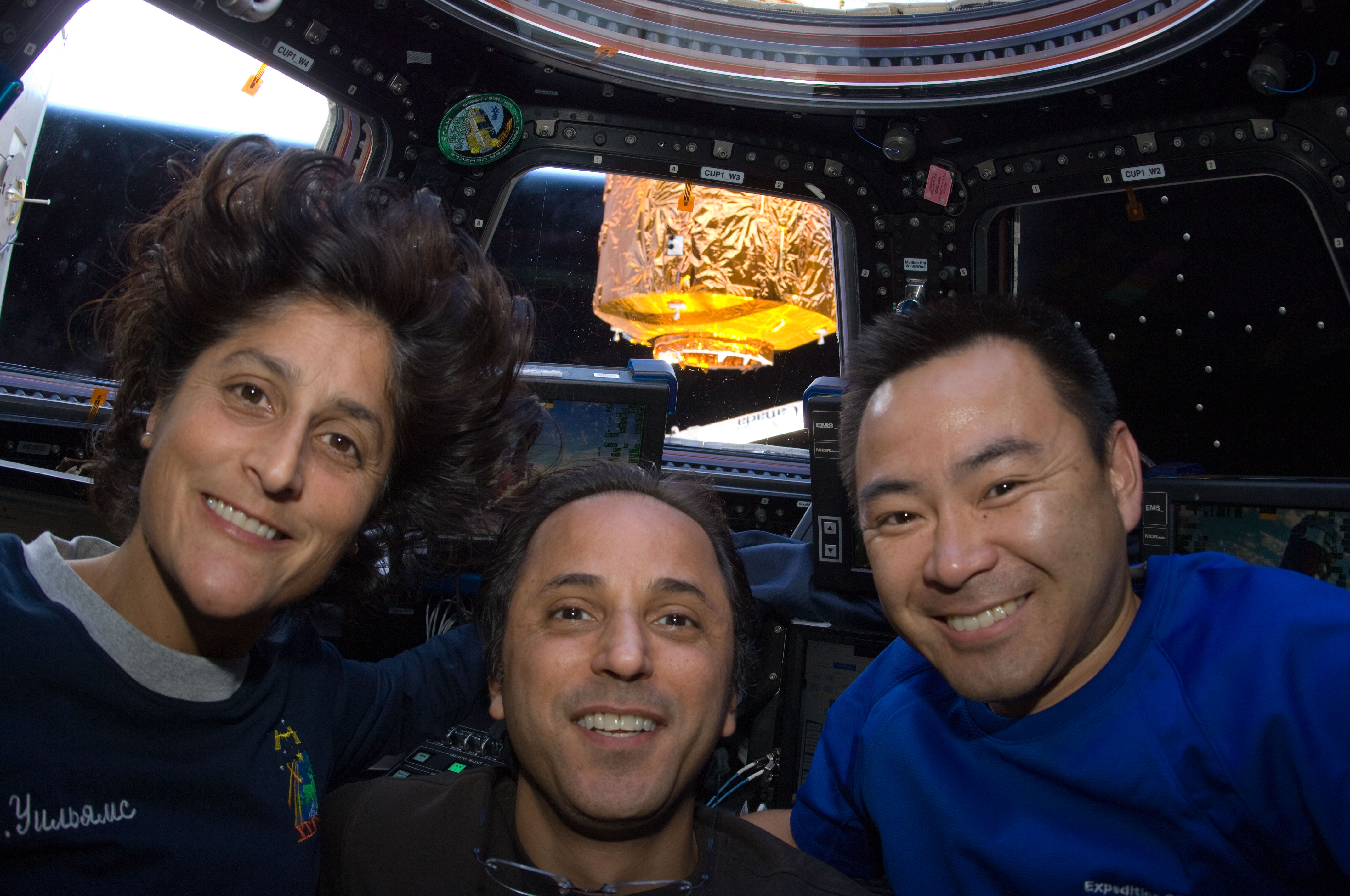 Astronauts in the Cupola