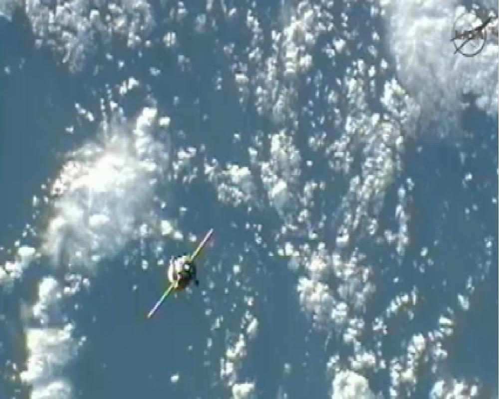 Progress 48 Spacecraft Approaches Space Station