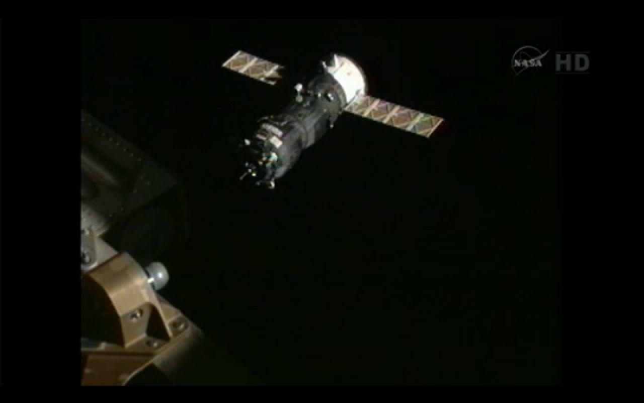 Russian Progress 48 Approaches International Space Station