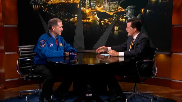 TV Comedian Stephen Colbert Hypes NASA's Huge Mars Rover Landing