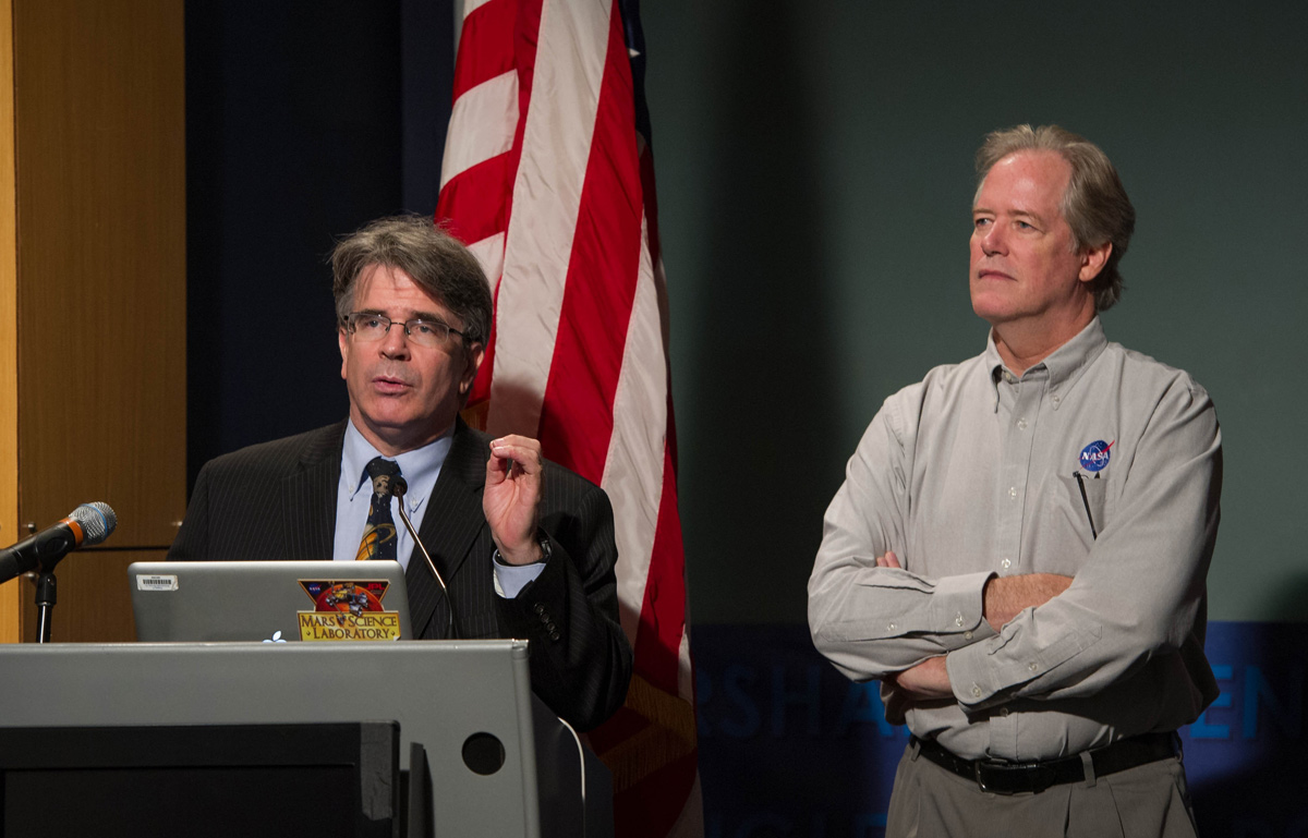 Garvin and Myers at Curiosity Briefing