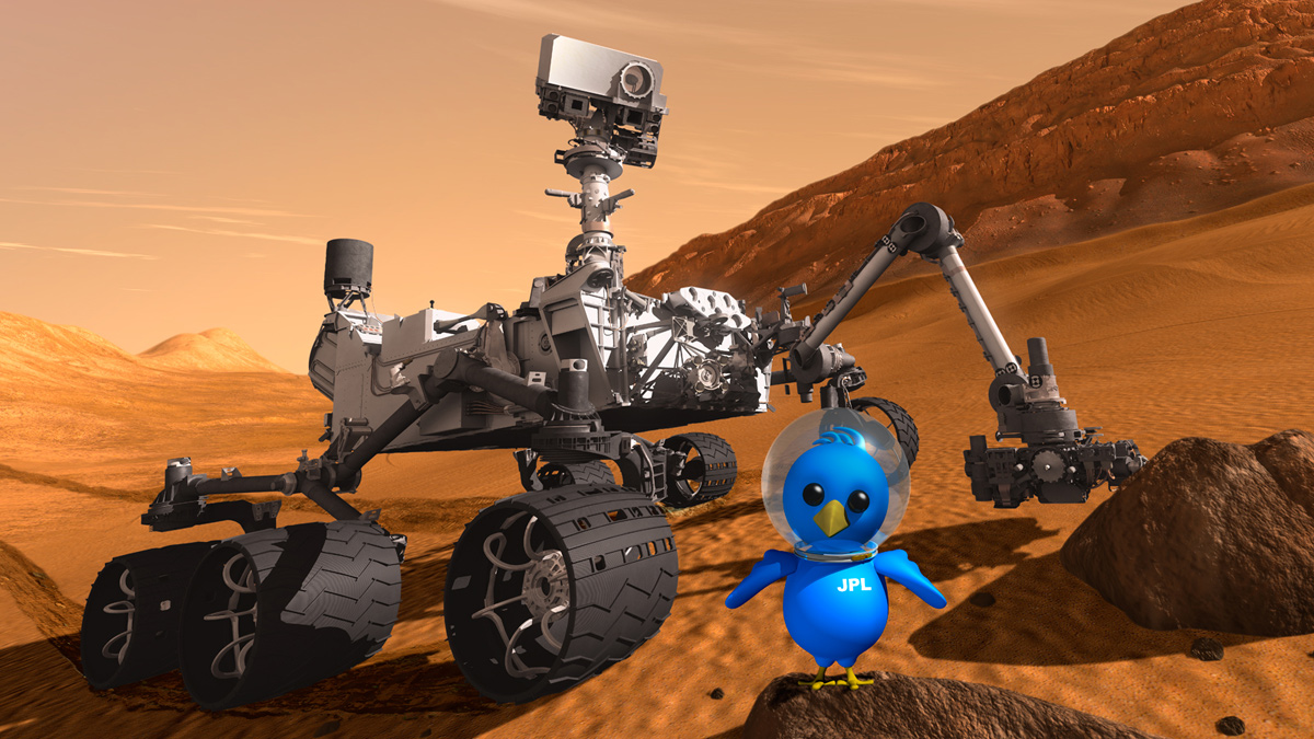 Mars Rover's Twitter Feed Displays Bravura, Plus Cheek