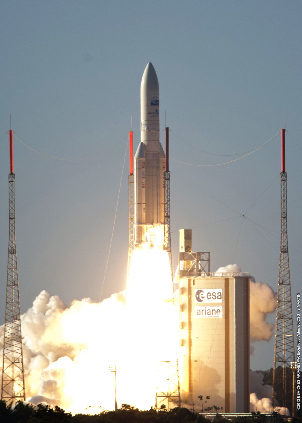 European Rocket Launches 2 Satellites in 50th Successful Blastoff