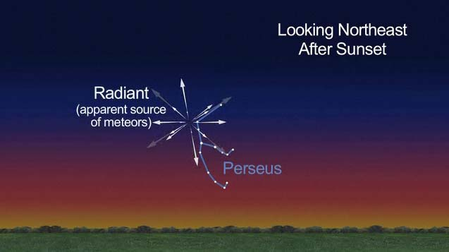 Perseid Meteor Graphic 2012