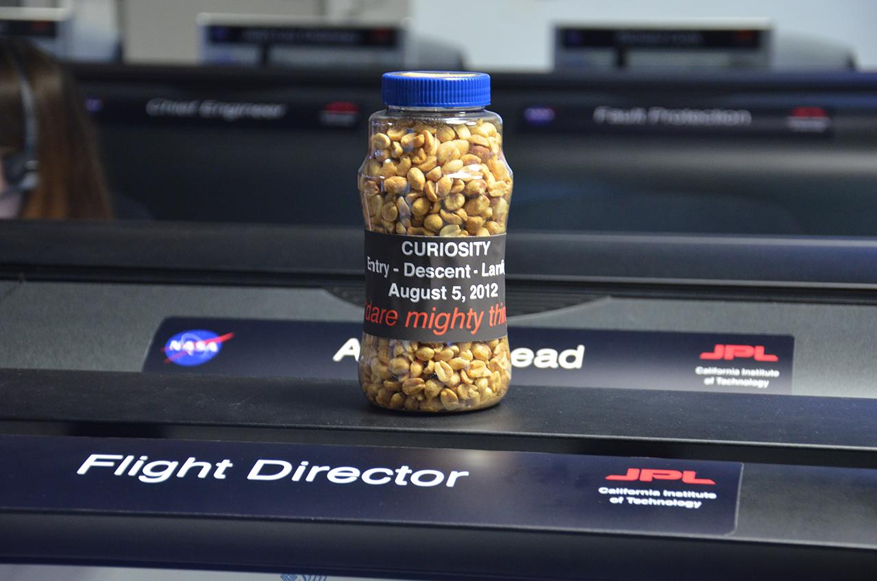Mars Rover Curiosity's Landing Peanuts