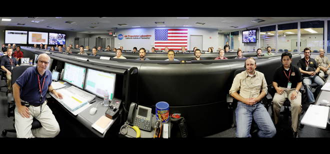 Mars Rover Curiosity: JPL Mission Control