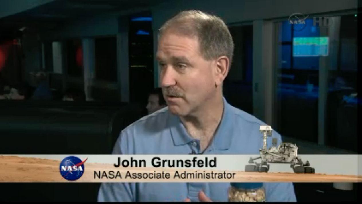 John Grunsfeld Speaks Prior to Curiosity Landing
