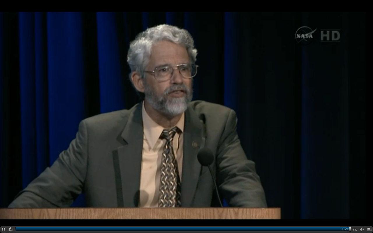 John Holdren at Curiosity Press Conference