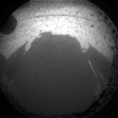 1st Mars Photos by Curiosity Rover: Shadow