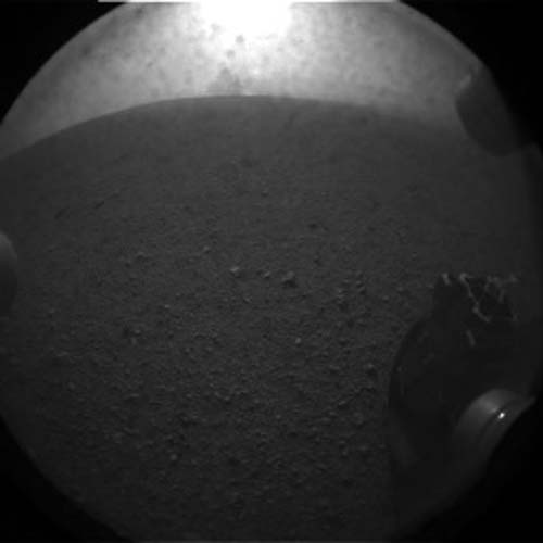 1st Mars Photos by Curiosity Rover: Wheel
