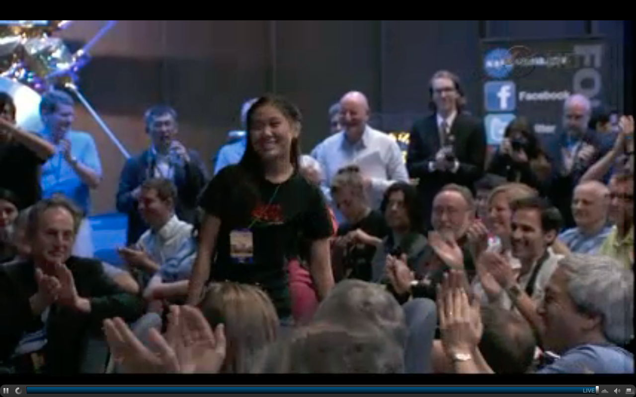 Clara Ma Acknowledged at Curiosity Rover Press Conference