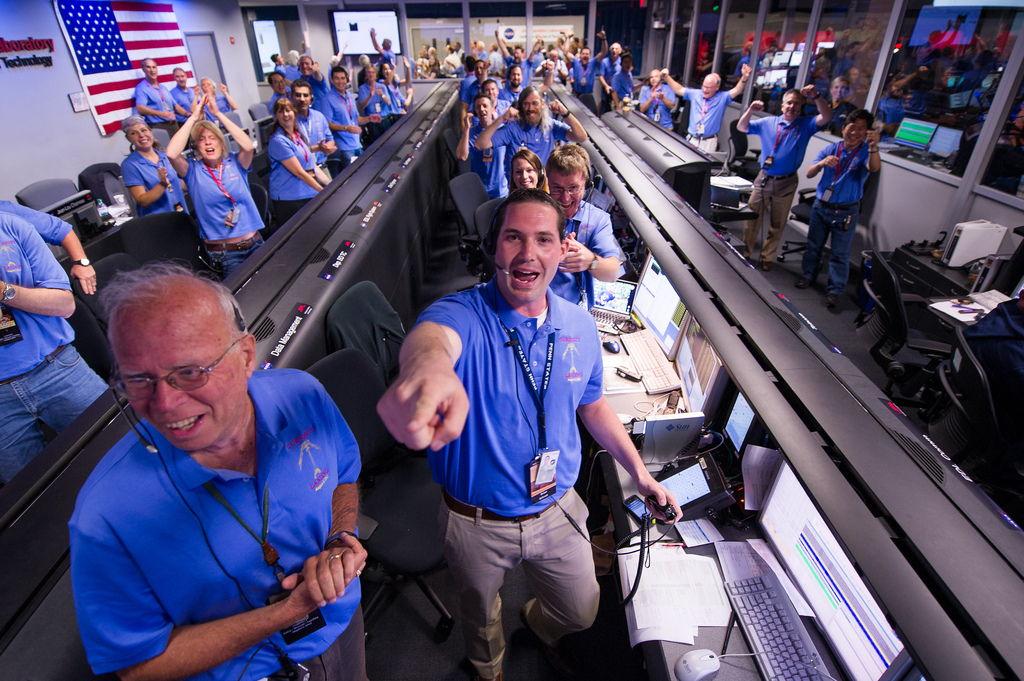 Mars Science Laboratory (MSL) Team Celebrates
