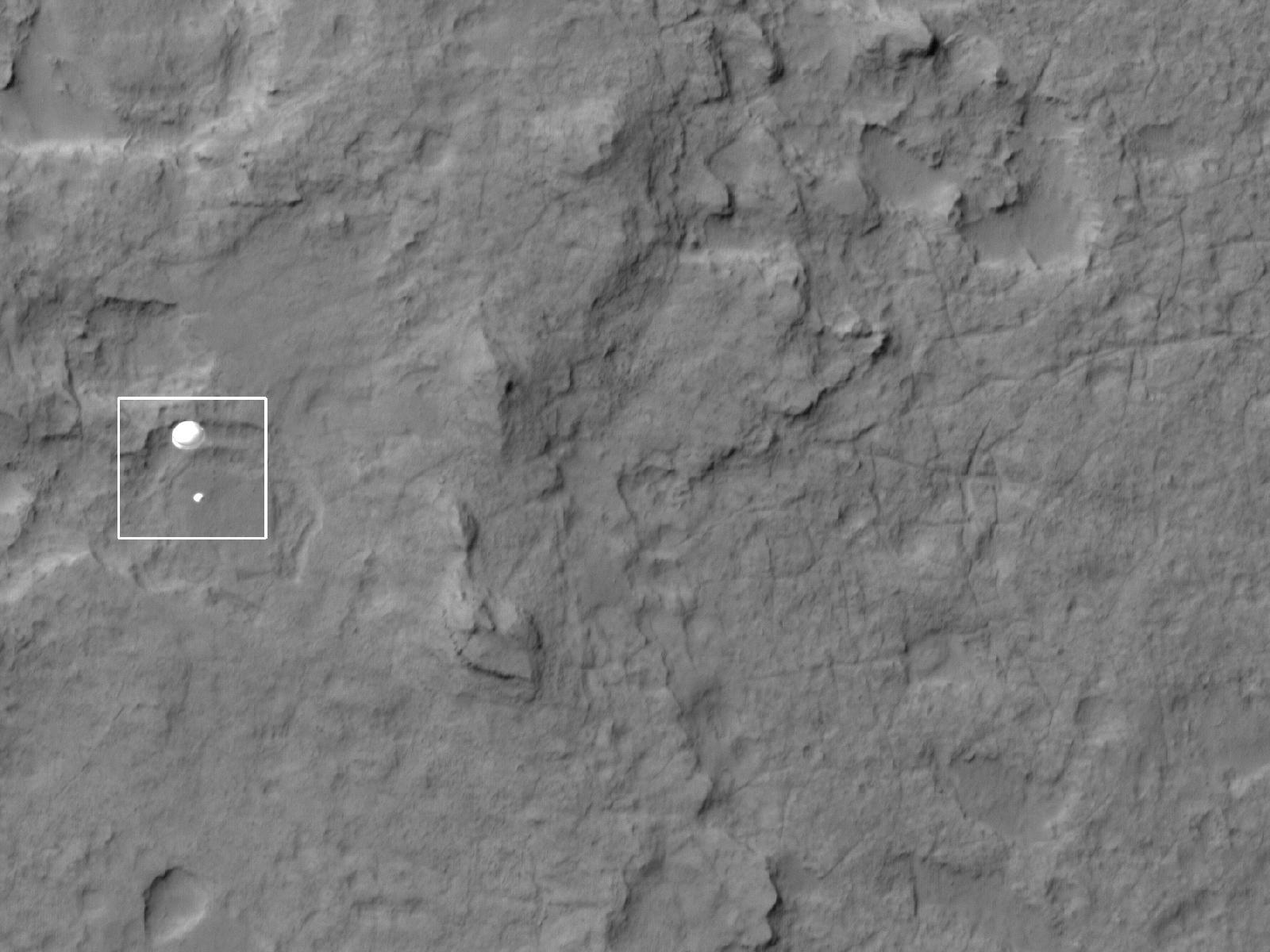 Mars Rover Curiosity Landing From Orbit