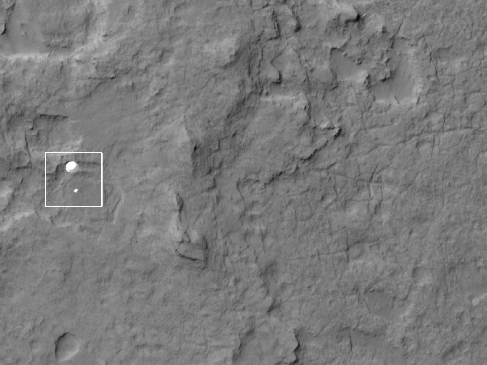 Mars Rover Curiosity Landing From Orbit