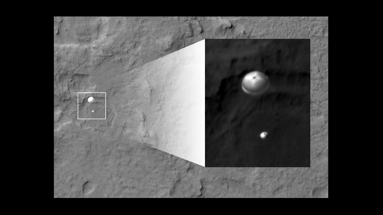 Wow! Mars Rover Landing Spotted by Orbiting Spacecraft