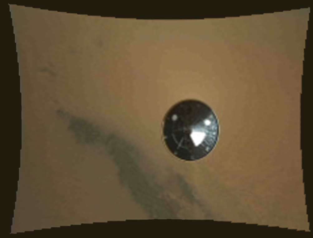 Mars Rover Curiosity's Descent Imager Sees Heat Shield Separation
