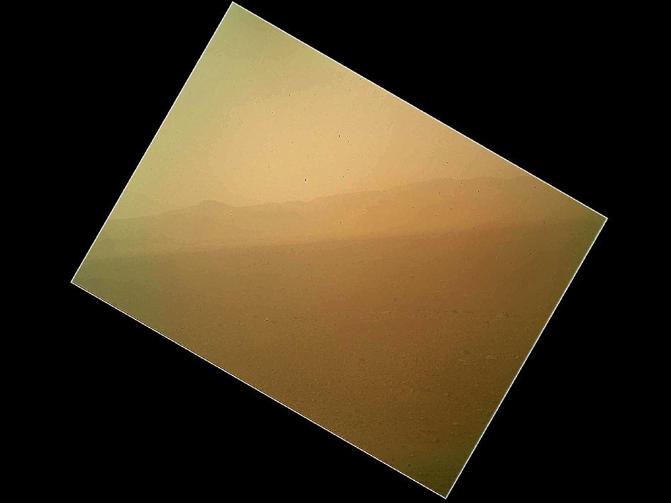 NASA Mars Rover Snaps Its 1st Color Photo on Red Planet
