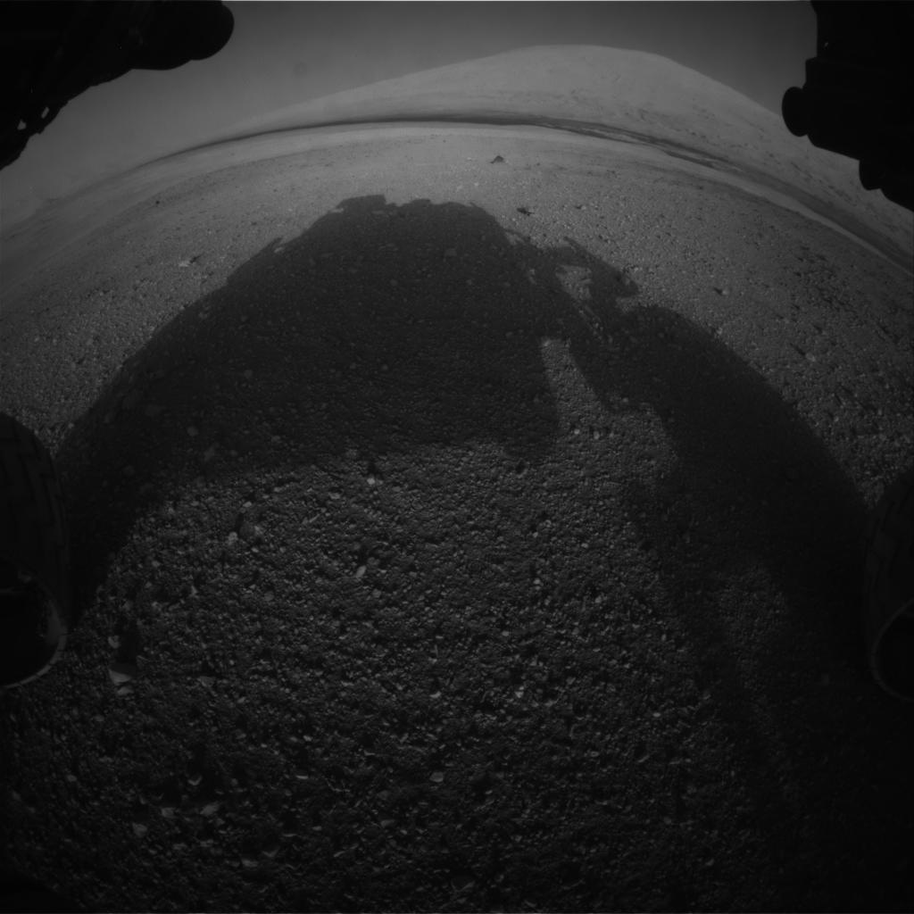 Curiosity's Front Hazcam View Left on Sol 0