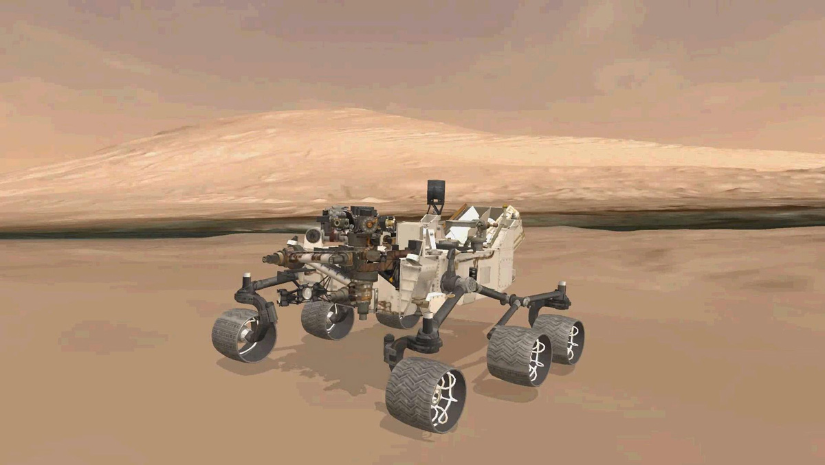 Virtual Model of Curiosity's Position on Landing