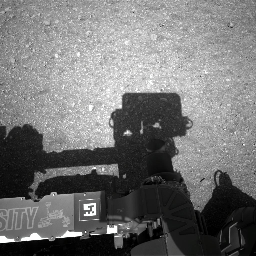 Mars Rover Curiosity: 1st Mast Camera View
