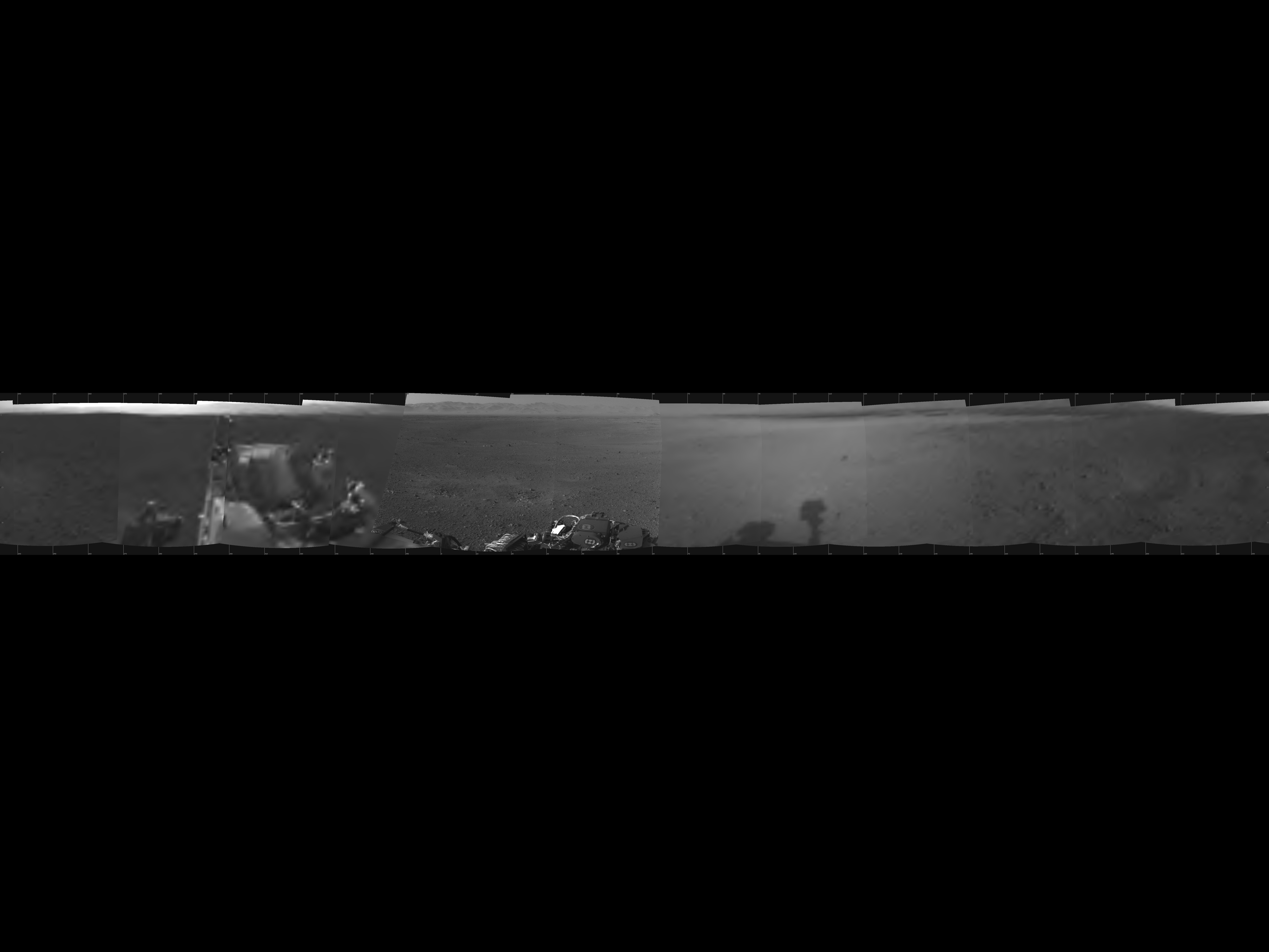 Mars Rover Curiosity's 1st Panorama