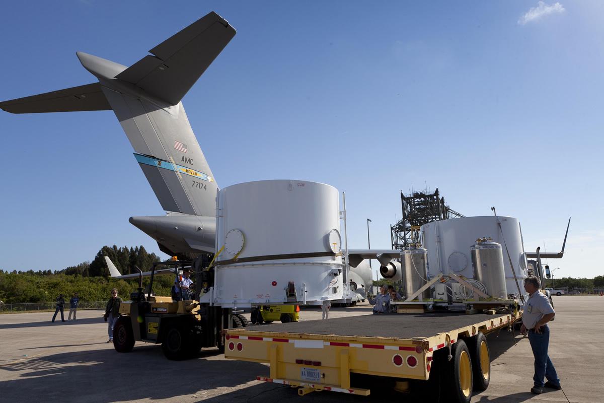 Twin RBSP Spacecraft Arrive at KSC