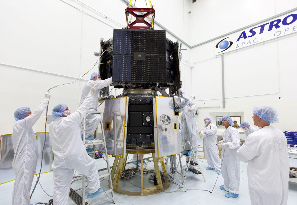 RBSP Spacecraft Stacked