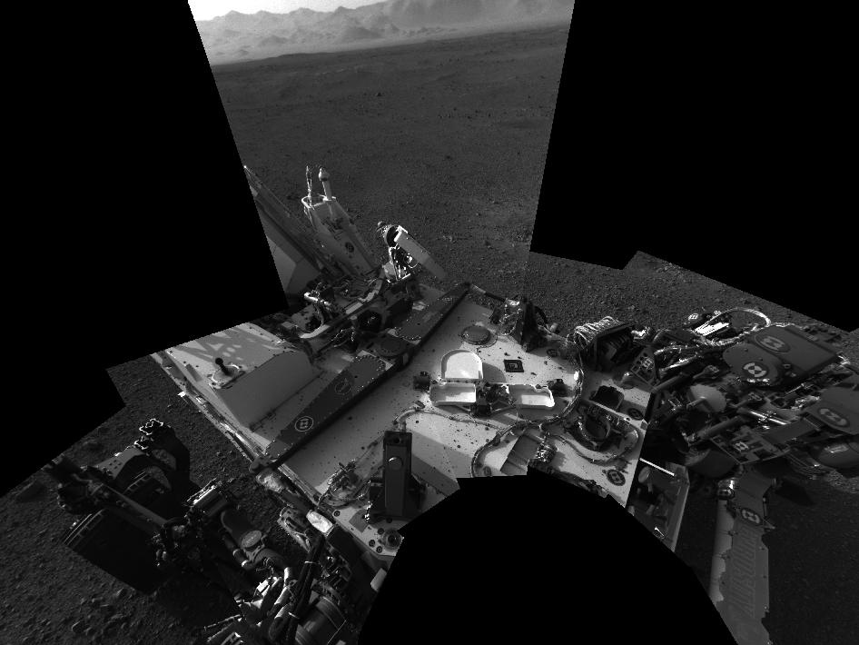 Curiosity Rover's Deck Photographed by Mast Camera