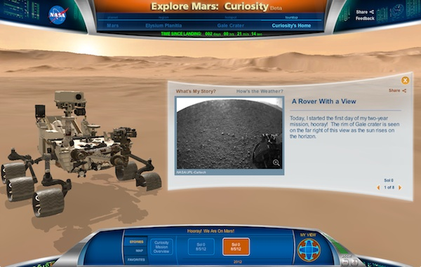 Follow Mars Rover Curiosity in 3D